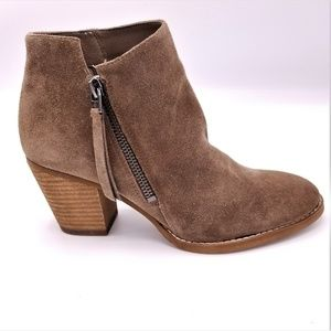 Sam Edelman Macon Booties Brown Suede Side Zip Sz7